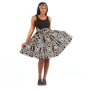 Dresses & Skirts - African Mudcloth Print Short Skirt with Matching S